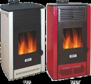Топловъздушна камина Burnit PD червена/бяла
